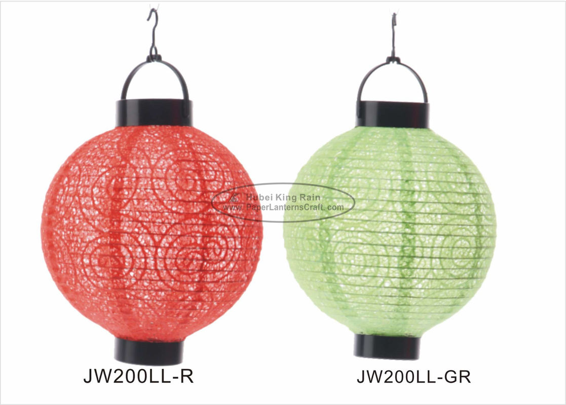 Eyelet Indoor Paper Lantern Lights , Battery Operated Paper Lanterns For Weddings