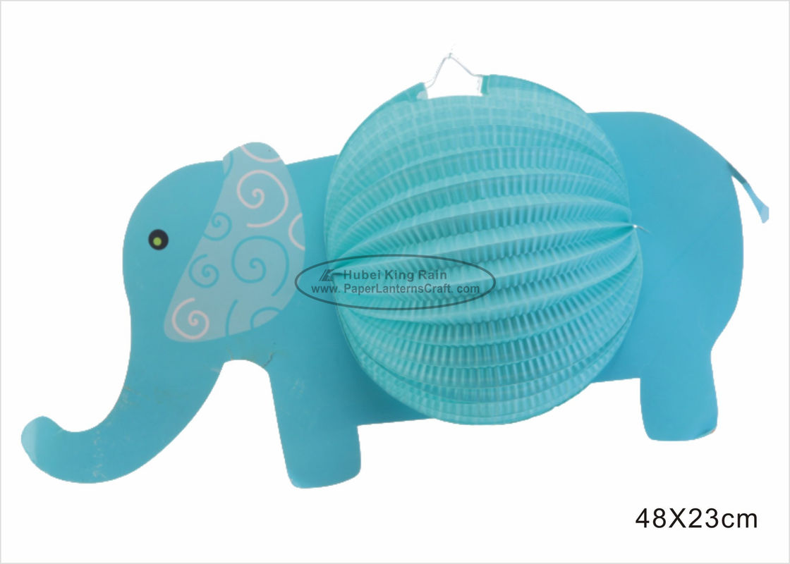 Fashionable Cute Kids Paper Lanterns , Elephant Paper Lantern Themed Gifts