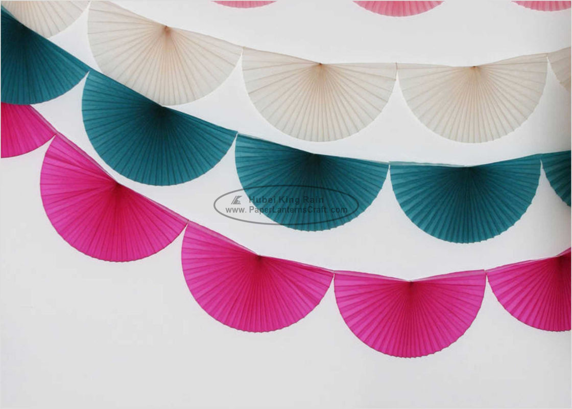 Pink Fan Pink Tissue Paper Garland Craft , 3m 4m Holiday Paper Garland