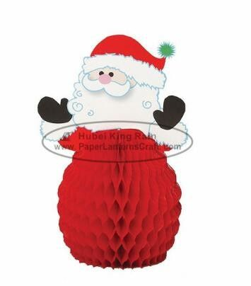 8 Inch Snowman Paper Christmas Decorations , Honeycomb Paper Xmas Decorations