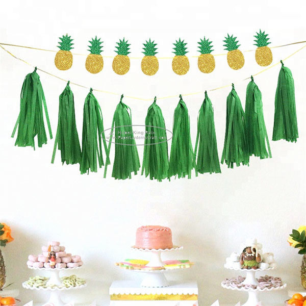 Hanging Solid Color Paper Garland Party Tassel Garland For New Year Party Decoration